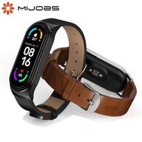 Band Strap für Xiaomi Mi Band 6 5 4 3 NFC Leder Armband Für Miband 6 Globale Version Armband Zubehör für Mi Band 5 Correa