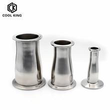O/D 19/25/32/38/45/51/63/76/89/102mm Minderer SS304 Edelstahl Sanitär Ferrule 50,5-119mm Concentic Rohr Fitting Tri Clamp
