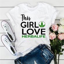 Dlrn this girl loves herbalife женская футболка с буквенным