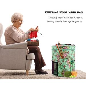Image 2 - 12 Styles Yarn Storage Knitting Bag Large Yarn Knitting Tote Bag For Crochet Hooks and Knitting Needles Yarn Balls