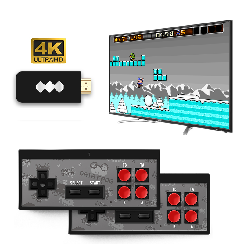 Wireless Handheld TV Video Game Consoles USB Build In 600 Classic Game 8 Bit Mini Video Console Support AV   HDMI Output