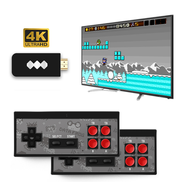 Wireless Handheld TV Video Game Consoles USB Build In 600 Classic Game 8 Bit Mini Video Console Support AV / HDMI Output