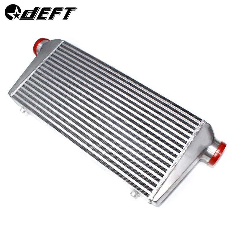 DEFT 600x300x76mm Universal Turbo Intercooler barra placa montaje frontal aluminio Auto compresor Intercooler