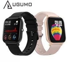 UGUMO P8 ساعة رياضية متصلة للرجال والنساء ، سوار معصم ، مراقب معدل ضربات القلب ، النوم ، لهواتف IOS و Android ، 1.4 بوصة