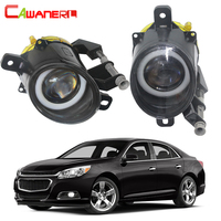 Cawanerl For Chevrolet Malibu 2013 2014 2015 Car 30W 3000LM LED Bulb Fog Light Angel Eye Daytime Running Light DRL 12V 2 Pieces