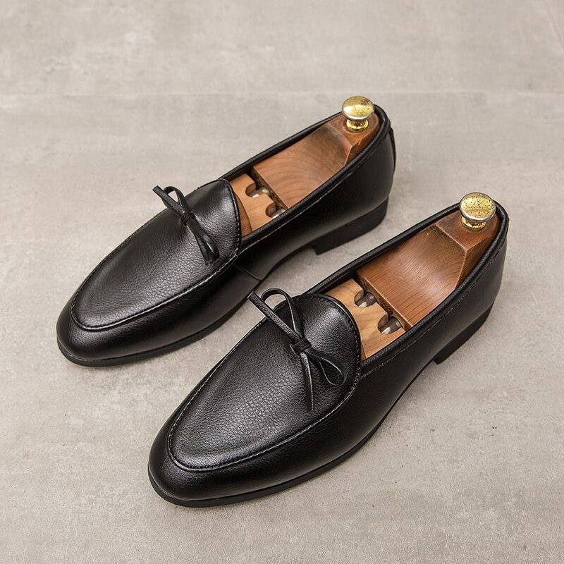 Leather shoes men's brand shoes non