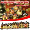 Свадебные аксессуары, Рождественское украшение, миниатюрная домашняя мебель из смолы, светодиодный домашний декор, креативные рождественс...