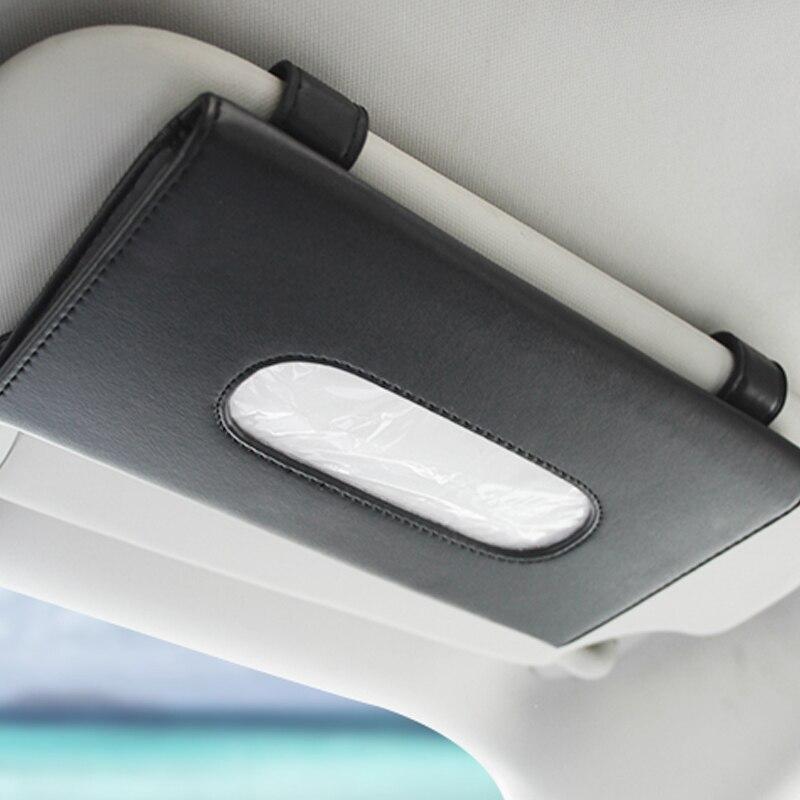 1 Pcs Auto della Scatola Del Tessuto Set di Asciugamani Car Sun Visor Titolare della Scatola Del Tessuto Auto Interni Decorazione Di Stoccaggio per Auto BMW accessori
