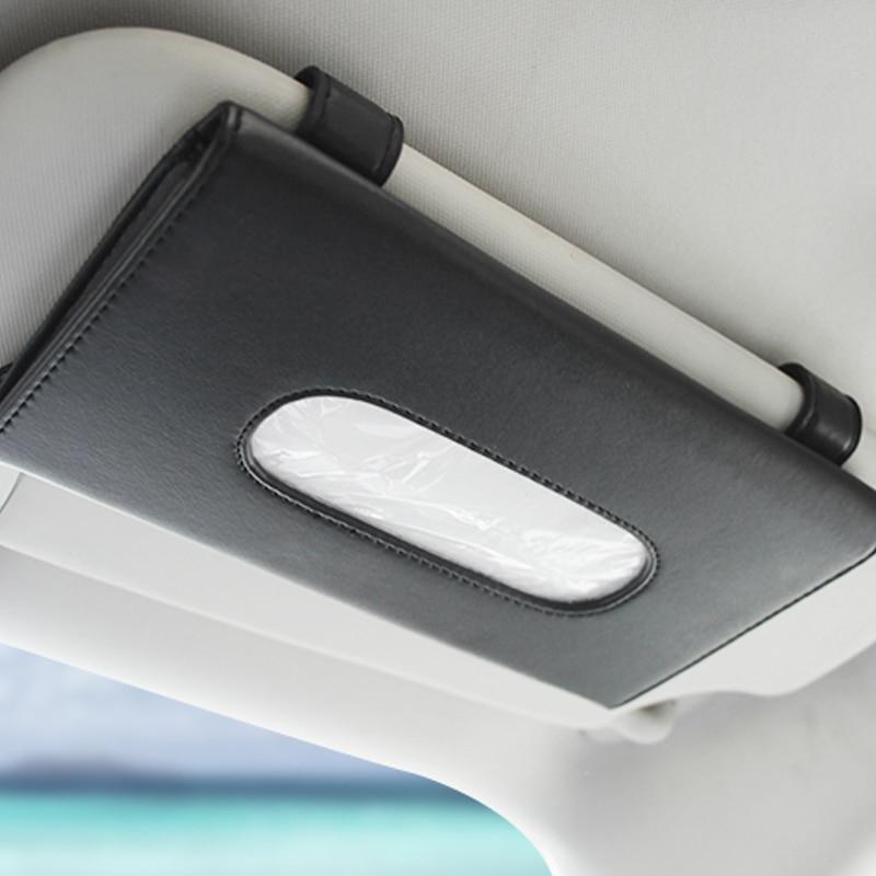 1 pièces voiture boîte à mouchoirs serviette ensembles voiture pare-soleil tissu support de la boîte Auto intérieur stockage décoration pour BMW voiture accessoires