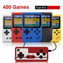 المدمج في 400 ألعاب ريترو محمول صغير محمول باليد لعبة فيديو وحدة التحكم 8 بت 3.0 بوصة لون LCD أطفال لون لعبة لاعب