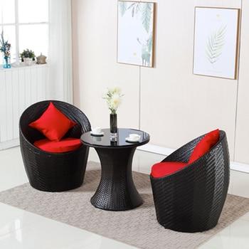 Rattan Patio Conversation Furniture Set  1