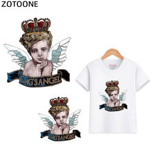 ZOTOONE Cute Angel Iron on Transfer Patches for Clothing DIY T-shirt Jacket Applique Heat Transfer Vinyl Thermal Press G(China)