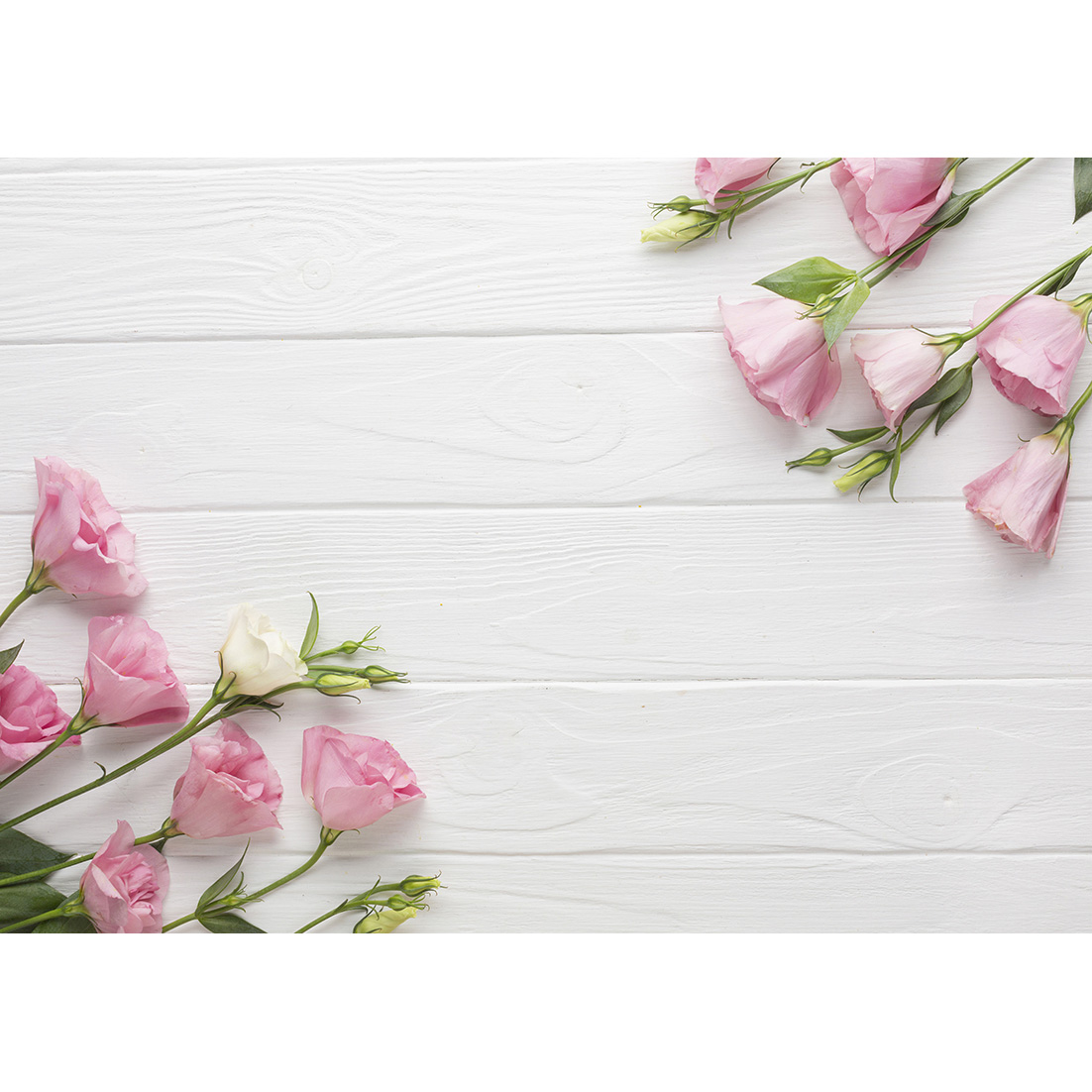 Pink Flowers White Wooden Board Photography Background Vinyl Cloth  Backdrops for Children Baby Portrait Photocall Photo Studio