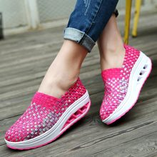 Platform Thick Soles Sneakers for Running Shoes Women Shoes Sport Woman Sports Shoes Slimming Wedges Swing Toning Fitness A281 4 5 cm height toning shoes for women fitness walking slimming workout sneakers wedge platform air swing shoes for female