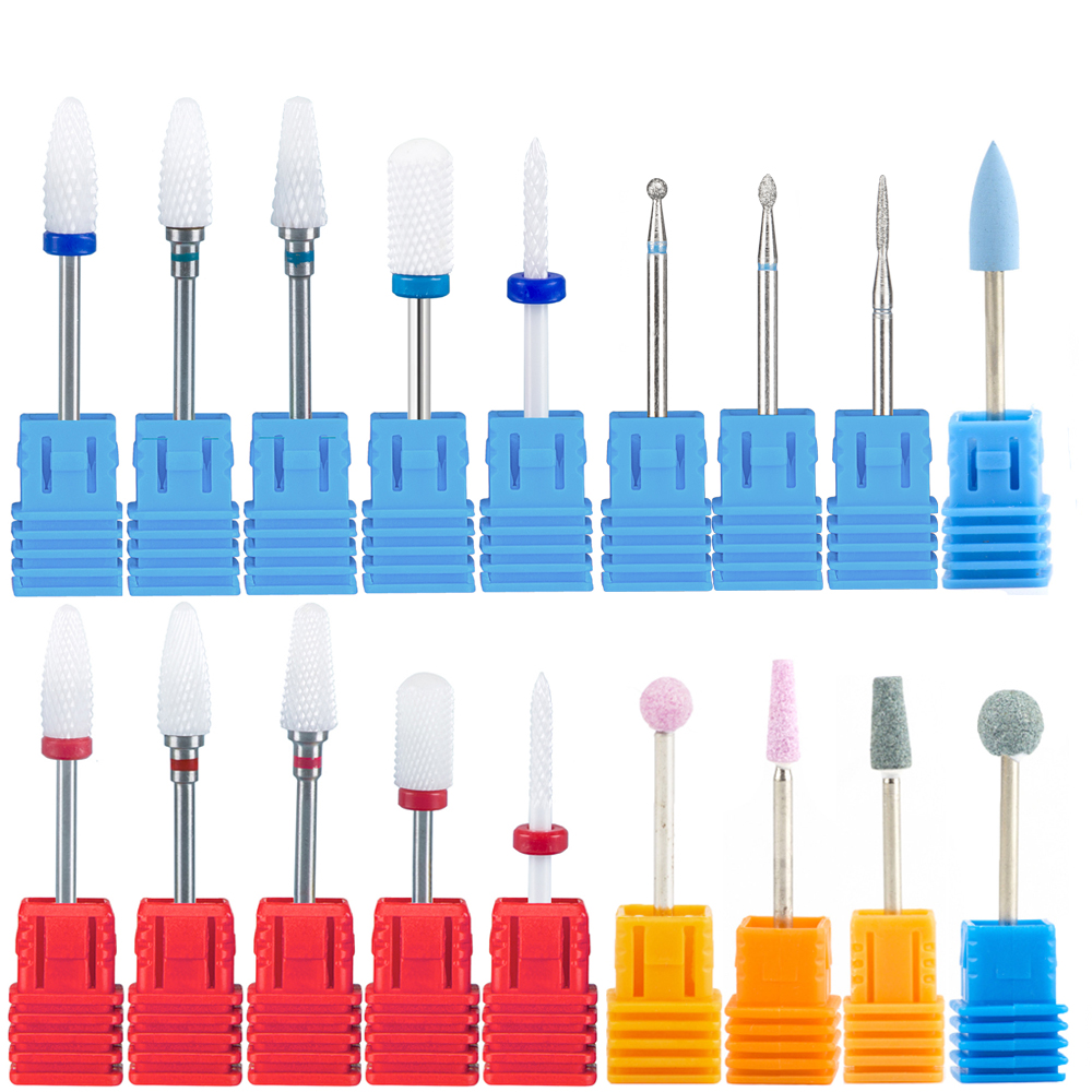Milling Cutter For Manicure Machine Nail Drill Bits Set Ceramic Mill Cutters Pedicure Nails Accessories Nail Art Tools Nozzles