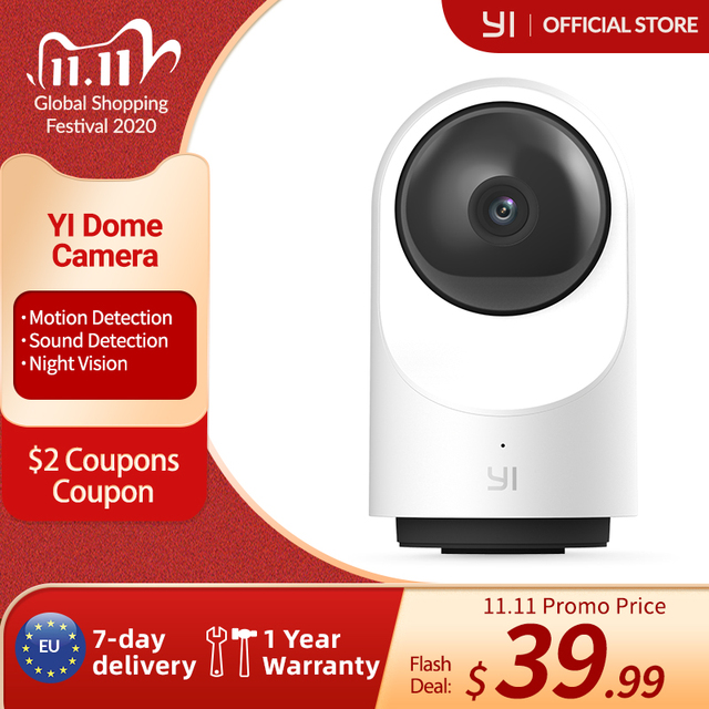 YI Dome Camera X 1080P HD IP Cameras Security Indoor Camera with Wi Fi, Time Lapse Human & Pet AI, Voice Assistant Compatibility