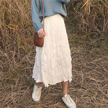 Autumn Summer Casual Black Long Skirts Women New 2019 Fashion Korean Style High