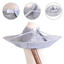 1pcs Silver Salon Hair Cutting Cloak Cape Cloak Family Hair Cutting Trimming Cover Umbrella