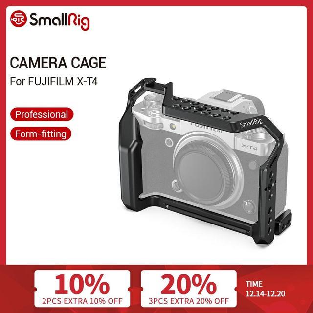 SmallRig X T4 هيكل قفصي الشكل للكاميرا ل فوجي فيلم X T4 سبائك الألومنيوم قفص مع الباردة حذاء جبل/الناتو السكك الحديدية كاميرا فيديو اكسسوارات 2808