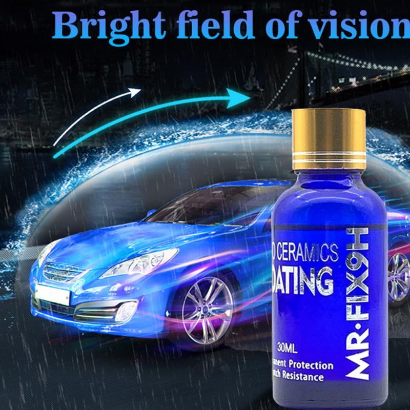 Жидкое керамическое покрытие 9H для автомобиля, гидрофобное покрытие для стекол, защита краски мотоцикла, против царапин, уход за лакокрасоч...