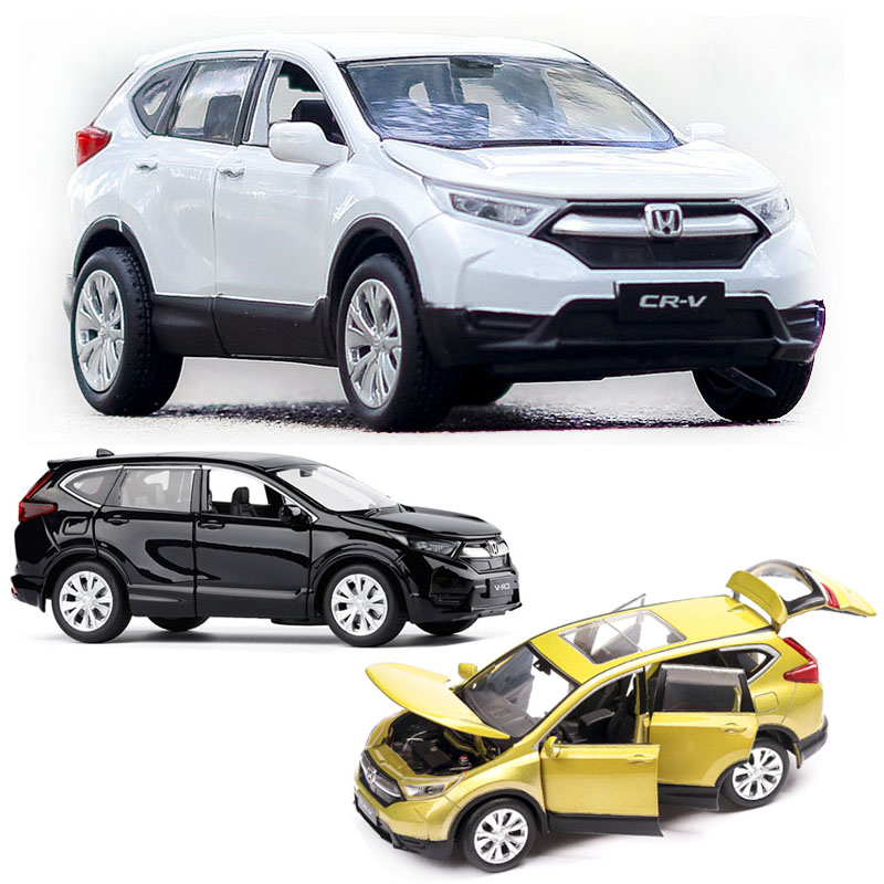 1:32 Honda CRV Car Model Alloy Car Die-cast Toy Car Model Sound And Light Children's Toy Collectibles Free Shipping