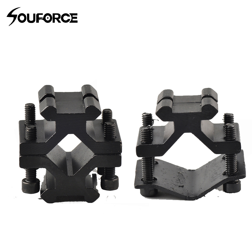 Tactical Universal Adjustable Rail 20mm Picatinny/Weaver Barrel Mount Adapter For Scope Flashlight Laser