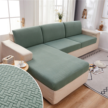 Soft Polar Fleece Fabric Sofa Cushion Cover 1/2/3/4 Seater Thick Slipcover Couch Corner Seat Sofa Covers Stretch Sofa Covers