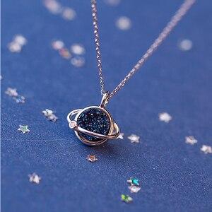 Image 2 - Herwish Il Piccolo Principe B612 Asteroid Pianeta Blu Entry Collane Di Lusso Pendenti Con Gemme E Perle di Cristallo di Modo Della Collana Dei Monili Delle Donne