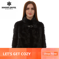 Natural women fur coat Fashion Slim jacket mink fur coat Short sleeve fur vest Short genuine fur coat Mandarin Collar