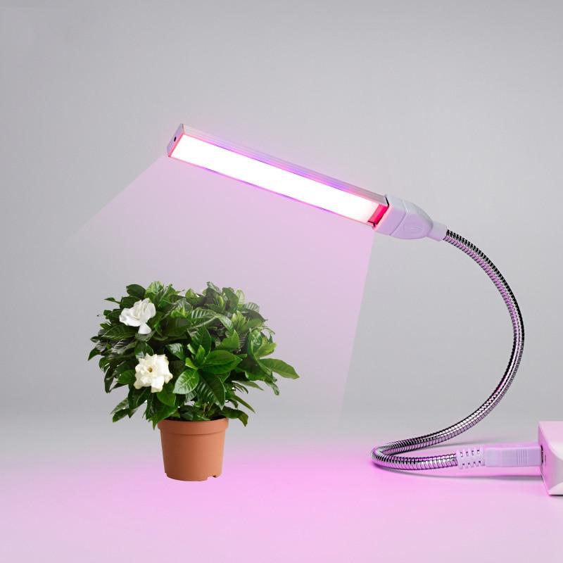 Plant Grow Light Full Spectrum LED Strip Flower Phyto Lamp Red Blue 10:4 Cultivation Indoor Lamp For Desktop Plant Flower USB UV