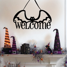 Get more info on the Halloween Hanging Non-woven Fabric Door Hanging ornament Bat Haunted House Escape Horror Halloween Party DecorationsCM