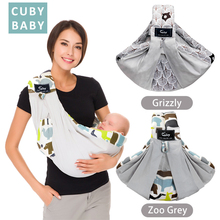 Free postage CUBY Baby Sling print front carry Baby Wrap Cotton wrap baby Soft Breastfeeding Cartoon animal pattern Ergonomics