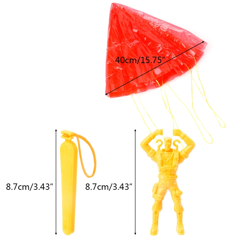 2 Pcs Hand Parachute Kite Surf Toy Throw And Drop Outdoor Fun Sports Kids Toy