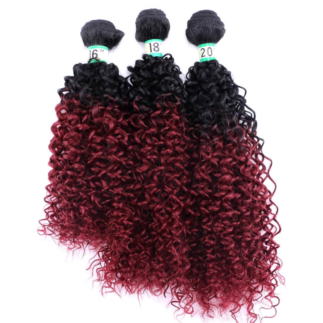 70 Gram One Piece Afro Kinky Curly Hair Bundles Brown to Golden Color High Temperature Chemical Fiber Hair Extensions for Women