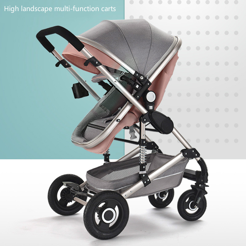 Baby Stroller Lightweight High Landscape Carriage 3 In1 For Newborn Folding Cart  Can Sit And Lie Children Buggy For Kids