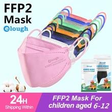 Elough Ffp2 Masks Children Kids KN95 Mask Protective Dustproof Breathable CE Reusable Boys Girls Mascarillas Face Mask 20-100PCS