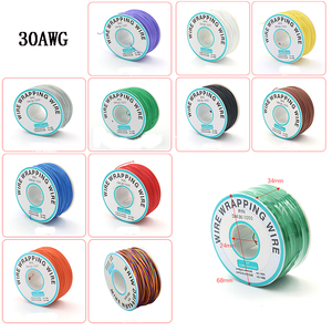 250Meter 30AWG OK Line 0.56mm PCB flying jumper Wire Cable OK line Wrapping Wrap Flexible insulation Tin-plated 250meter