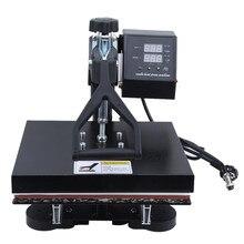 Máquina de prensado en caliente hidráulica para camisetas, impresora de transferencia de calor Manual Digital de doble pantalla de alta presión, enchufe de la UE/EE. UU./AU