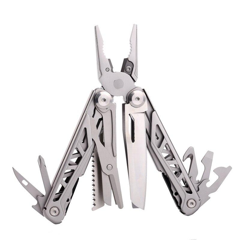 New Design Multitool Outdoor Folding Knife Plier Multifunctional Multi Tools EDC Kit Scissors Steel Pocket Camping Knife