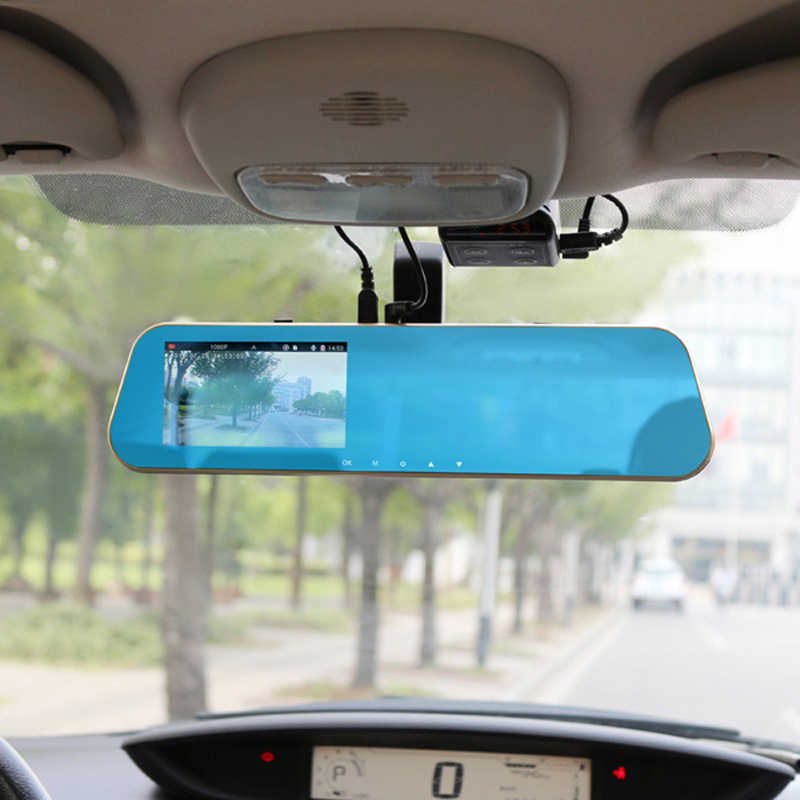 Full HD 1080P Rear View Mirror with Dual Lens Camera Car Dvr Night Vision Dash Cam Car Digital Video Recorder G-Sensor