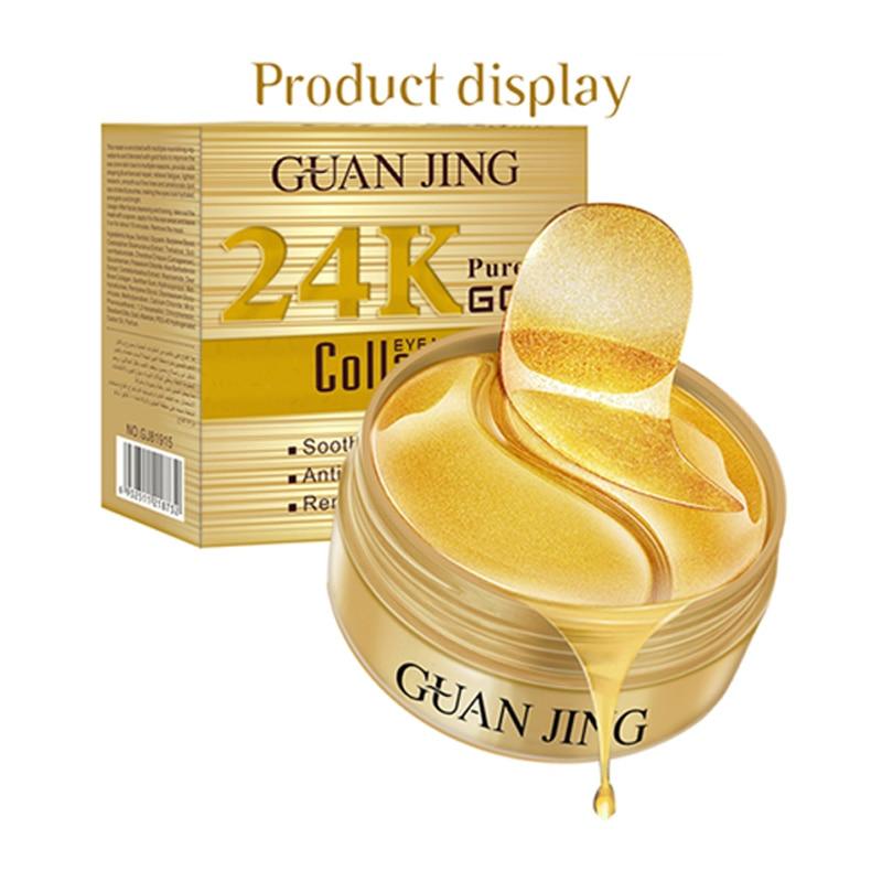 Gold Snail Collagen Eye Patch Moisturizing Remove Dark Circles Anti-Puffiness Anti-Wrinkles Gel Eye Pads P1