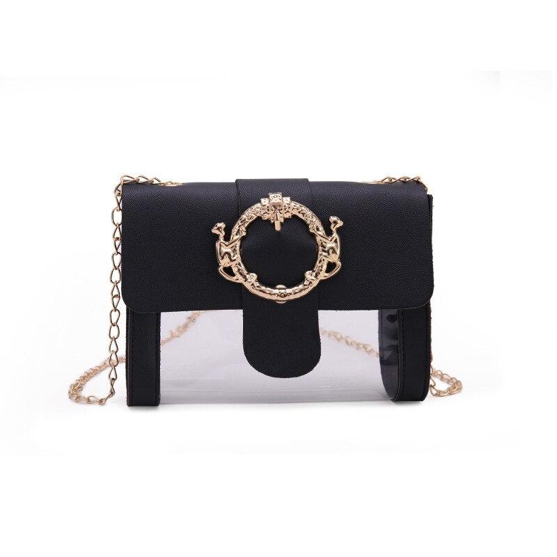 2019 Fashion New High Quality Women's Designer Handbag Cute Transparent Jelly Zipper Shoulder Bag Messenger Bag