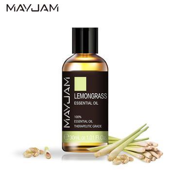 30ml Lemongrass Essential Oil Diffuser Pure Natural Aromatherapy Essential Oils Clove Cinnamon Chamomile Rosemary Geranium Oil недорого