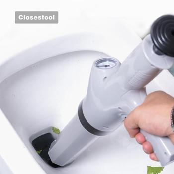 Émbolos de baño bomba de alta presión Cleane potente pistola de drenaje de aire