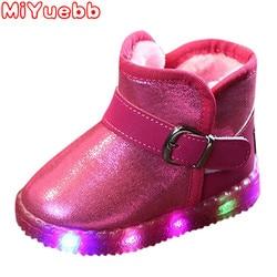 Dziecięce botki dla małej dziewczynki 2020 nowe chłopięce buty buty dla malucha Led świecące buty buty trampki motylkowy węzeł diamentowe buty dla niemowląt w Buty od Matka i dzieci na