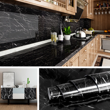 Eco-friendly Peel and Stick PVC Self Adhesive Sticky to Tables Marble Waterproof Wallpapers PVC Kitchen Cabinets Wall Stickers