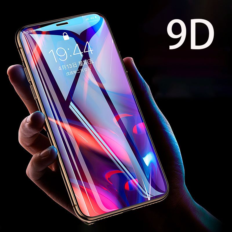 9D Tempered Glass For IPhone 11 Screen Protector Glass On For IPhone 11 Pro Max Glass For IPhone Xs Max XR XS Screen Protector