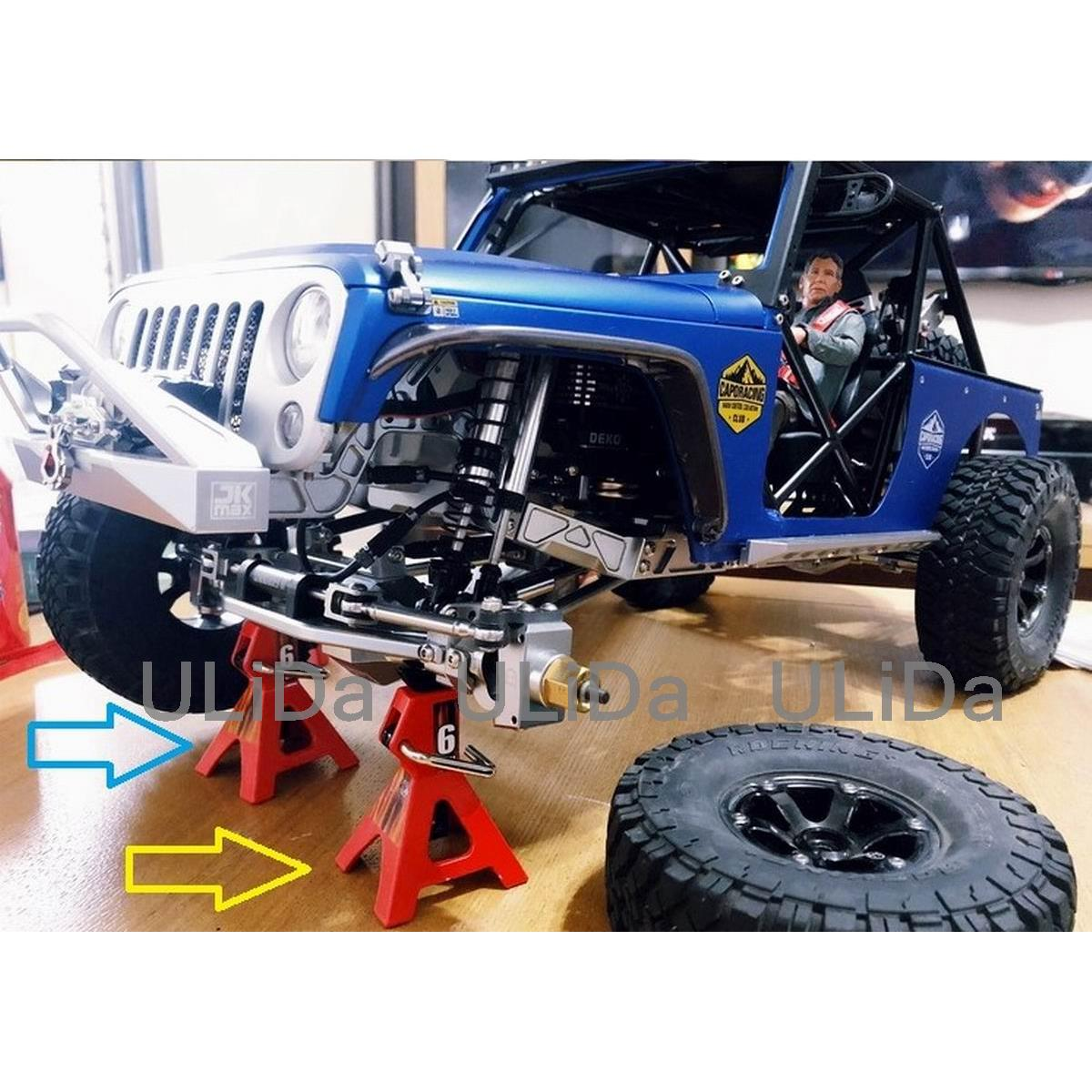 2pcs 1//10 Mini Simulation Metal Jack Stands Yellow Fits for D90 SCX10 RC Crawler Model Car VGEBY1 RC Lifting Jack 6tone