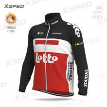 2020 Pro Team Wielertrui Winter Mannen Lotto Soudal Lange Mouw Ras Sweatshirt Thermische Fleece Bike Jacket Fiets Rit Uniform(China)