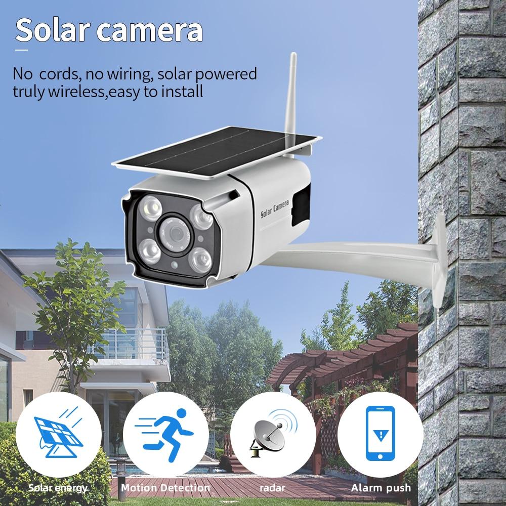 Caméra de surveillance extérieure solaire autonome, wifi, 1080 P